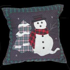 "#Snowman Mantel #Pillow Cotton 15"" Square # 64710 Shop --> http://www.rensup.com/Pillows/Pillows-Cotton-Seasonal-Snowman-Mantel-Pillow-15-feet-Square/pd/64710.htm?CFID=2385010&CFTOKEN=72cca557eb3739d9-6891FD40-9453-F242-CC3C6C3D4C6BFC90"
