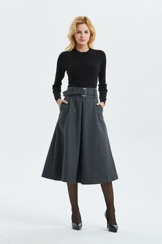 f973feb8608 18 Best MIDI skirt with ankle boots images