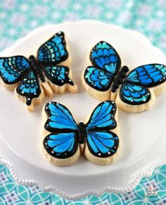 Marbled Butterfly Cookies