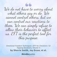 Why do we allow others to control our thoughts with their behaviors around us and toward us? Emotional Freedom Techniques can change all of that for you! Eft Tapping, Acupressure Points, Struggle Is Real, Emotional Healing, Quotes About God, Christian Faith, Christians, Self Love, Behavior