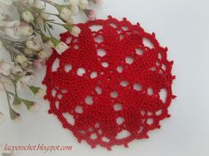 Lacy Crochet: Free red heart Doily Patterns