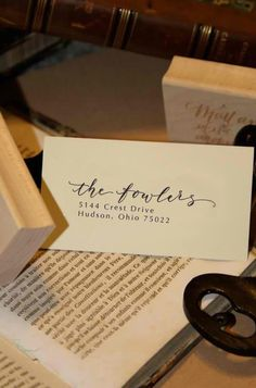 Now that we are moving we need a new calligraphy return address stamp!
