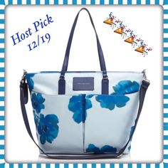 SALEBNWT Marc Jacobs floral diaper/ baby bag Very nice and big bag! Includes changing pad. Outside has two big pockets and inside has 1 zipper compartment, 2 bottle pockets 1 on each size and lastly 2 open pockets! Has a secure zipper closure. Body of bag is 100% polyester perfect for easy cleaning! Also comes with long shoulder strap! Price drop 50.00!!!  HP 12/19  Marc by Marc Jacobs Bags Baby Bags