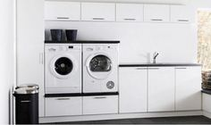 Skuffer under vaskemaskiner