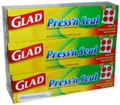 Have you ever heard of Glad Press'n Seal?  I always thought it had to do with squeezing Seal (the singer), but I was wrong.  Press'n Seal is the BEST invention ever!  Even better than the time machine.  You can use it for EVERYTHING.  Covering bowls, storing leftovers, painting, swaddling babies, filing your taxes, scuba diving, and even birth control.  Press'n Seal, will you marry me?