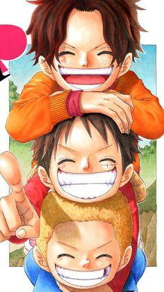 animé : One Piece / Monkey D Luffy , Portgas D Ace , Sabo   by Acluf   / http://www.zerochan.net/544286