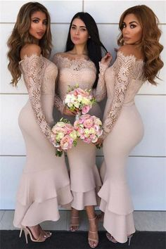Princess Prom Dresses, Long Sleeves Mermaid Sheath Lace Bridesmaid Dresses Elegant Wedding Party Dresses, Plus Size Formal Dresses and Plus Size Party Dresses are great for your next special Occassion at cheap affordable prices The Dress Outlet. Mermaid Bridesmaid Dresses, Lace Bridesmaid Dresses, Mermaid Dresses, Wedding Party Dresses, Prom Dresses, Girls Dresses, Lace Mermaid, Cheap Dresses, Bridesmaids