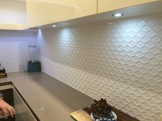 Butler pantry tile splash back nice