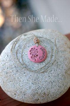 What a cute idea for a gift for little girls. Salt Dough, paint, stamp, WA-LA!