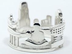 Hong Kong Cityscape - Skyline Statement Ring Size 5-13
