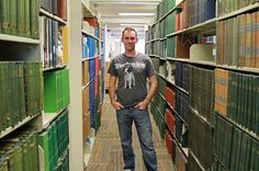 Ryan Zehm in the main Boise Public Library in Downtown Boise. He used the library's powerful Wi-Fi system to help him build a computer game while he was homeless.
