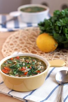 Chicken Cilantro Soup Recipe. The perfect easy weeknight dinner. Gluten-free and paleo!  Add ginger and tumeric. No onions or garlic.