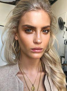 Natural brows and makeup