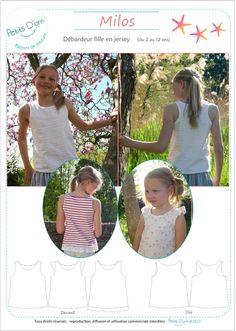 MILOS, débardeur pour filles du 2 au 12 ans. Patron de couture PDF, patron de couture, patron débardeur