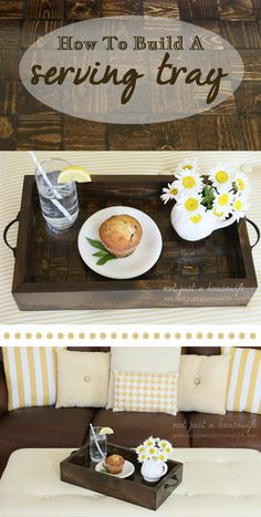 Serving tray- would like a really big wood serving tray, with interesting design and warm.darker wood