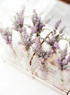 Pretty centerpiece idea for rustic wedding (#purple weddings, #rustic weddings, #spring weddings)