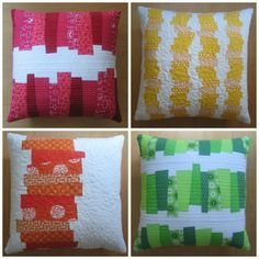 Image of CHOPPED VEGETABLES PILLOWS Modern Patchwork pdf Pattern