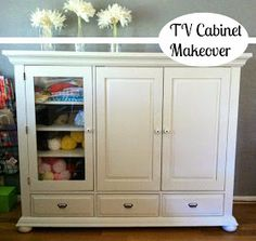 New furniture makeover armoire tv stands Ideas Sewing Cabinet, Linen Cabinet, Tall Cabinet Storage, Repurposed Furniture, New Furniture, Furniture Makeover, Refurbishing Furniture, Trendy Furniture, Painted Furniture