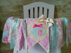 Floral Tea Party Tea Pot Birthday High Chair by GigglesandWiggles1