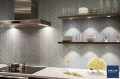 Is it weird to be madly in love with this kitchen backsplash tile? No? We're not alone? Ok, goodnn#interiordesign #kitchentile #backsplashtile #kitchenbacksplash #tiledesign