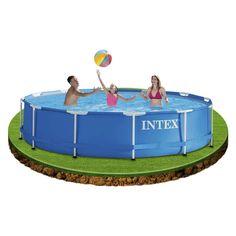 Intex Kit De Piscine Tubulaire Ronde Bleu 366 X 366 X 76 Cm 6500 L 28212NP
