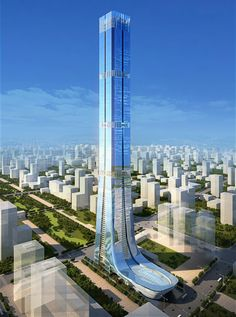 Evergrande tower in Jinan by Terry Farrell and Partners #architecture ☮k☮