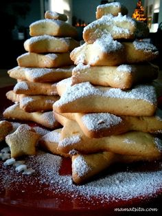 Greek Recipes, Baby Food Recipes, Cooking Recipes, Christmas Biscuits, Weird Food, Christmas Sweets, Christmas Brunch, Christmas Cookies, Healthy Cookies