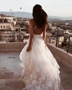 Beach Lace Wedding Dress Lace Beach Wedding Dress, Lace Wedding, Wedding Dresses, Fashion Videos, Tie The Knots, Wedding Invitations, Backless, Train, Bride