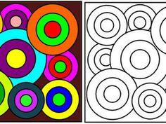 Classroom Art Projects, Art Classroom, Art Kandinsky, Op Art Lessons, Yellow Artwork, Classe D'art, Object Drawing, Circle Art, Guache