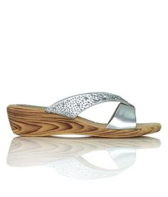 Unforgettable - Sparkling wedge thong, perfect for a beach wedding