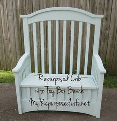 Crib turned into bench @ My Repurpose Life.net