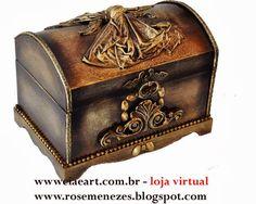Apostila de pintura Decorativa Rose Menezes: Arte Obrjeto Ouro