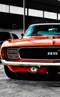 "The very popular Camrao A favorite for car collectors. The Muscle Car History Back in the and the American car manufacturers diversified their automobile lines with high performance vehicles which came to be known as ""Muscle Cars. Muscle Cars Vintage, Vintage Cars, American Muscle Cars, Hot Cars, Camaro Rs, Chevrolet Camaro 1969, Corvette, Car Wheels, Retro Cars"