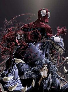 SPIDER-MAN AND BLACK CAT VS. VENOM AND CARNAGE