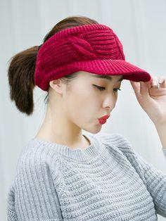 ef431d48185e8 Korea Style Fashion Beret Knitted Hats For Winter - CheapClothingCity.com  $7.95 plain, #