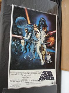 Original 1977 Star Wars Original Poster Style C (without PG rating) Rolled