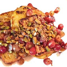 French Toast with Pistachios and Grapes - Fitnessmagazine.com