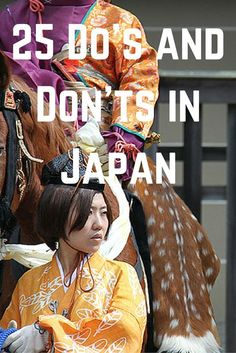 25 Do's and Don'ts in Japan
