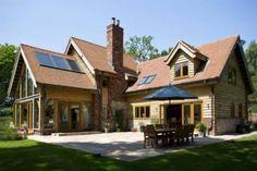 Contemporary oak framed home exterior