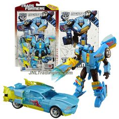 "Hasbro Transformers Generations Thrilling 30 Series Deluxe Class 5-1/2"" Tall Figure #020 - NIGHTBEAT with Plasma Cannon (Vehicle Mode: Sports Car)"