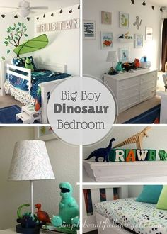 Simply beautiful by angela: tristan's big boy dinosaur room reveal big boy bedroom ideas,