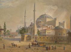 [Ottoman Empire] Hagia Sophia Mosque, Istanbul, 19th Century (Ayasofya Camii, 19. Yüzyıl)