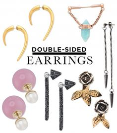Double-Sided Earrings: The Must-Try Jewelry Trend via @WhoWhatWear