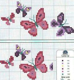 Tiny Cross Stitch, Cat Cross Stitches, Xmas Cross Stitch, Butterfly Cross Stitch, Cross Stitch Cards, Cross Stitch Borders, Cross Stitch Flowers, Cross Stitch Designs, Cross Stitching