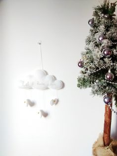 Love Cloud Mobile 'Let it Rain Love' - Ready to Ship! | Christmas | Nursery Decor | Baby | Kids by CloudishHandmade on Etsy