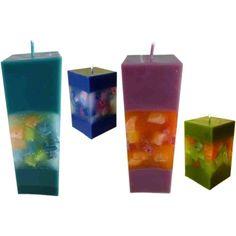 Kerzen Quaderkerzen Würfelfenster manuell gefertigt - Nordkerze