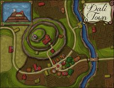 Elven Tower is creating maps and adventures for D&D, pathfinder, and other RPGs Fantasy Map, Fantasy Story, Golden Goat, Village Map, Dungeon Maps, Dungeons And Dragons Homebrew, Call Of Cthulhu, Us Map, Cartography