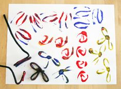 Pipe cleaner prints