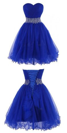 Short Homecoming Dress,Blue Homecoming Dresses,Backless Prom Party Gown by fancygirldress, $135.00 USD