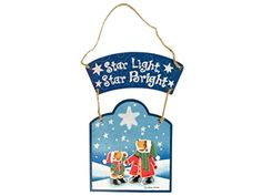 Wholesale Star Light Star Bright Wooden Christmas Plaque  Set of 48 Seasonal Christmas *** This is an Amazon Affiliate link. Details can be found by clicking on the image.